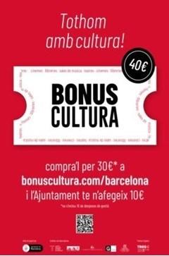Neix el Bonus Cultura per incentivar el consum i l'activitat econòmica cultural!