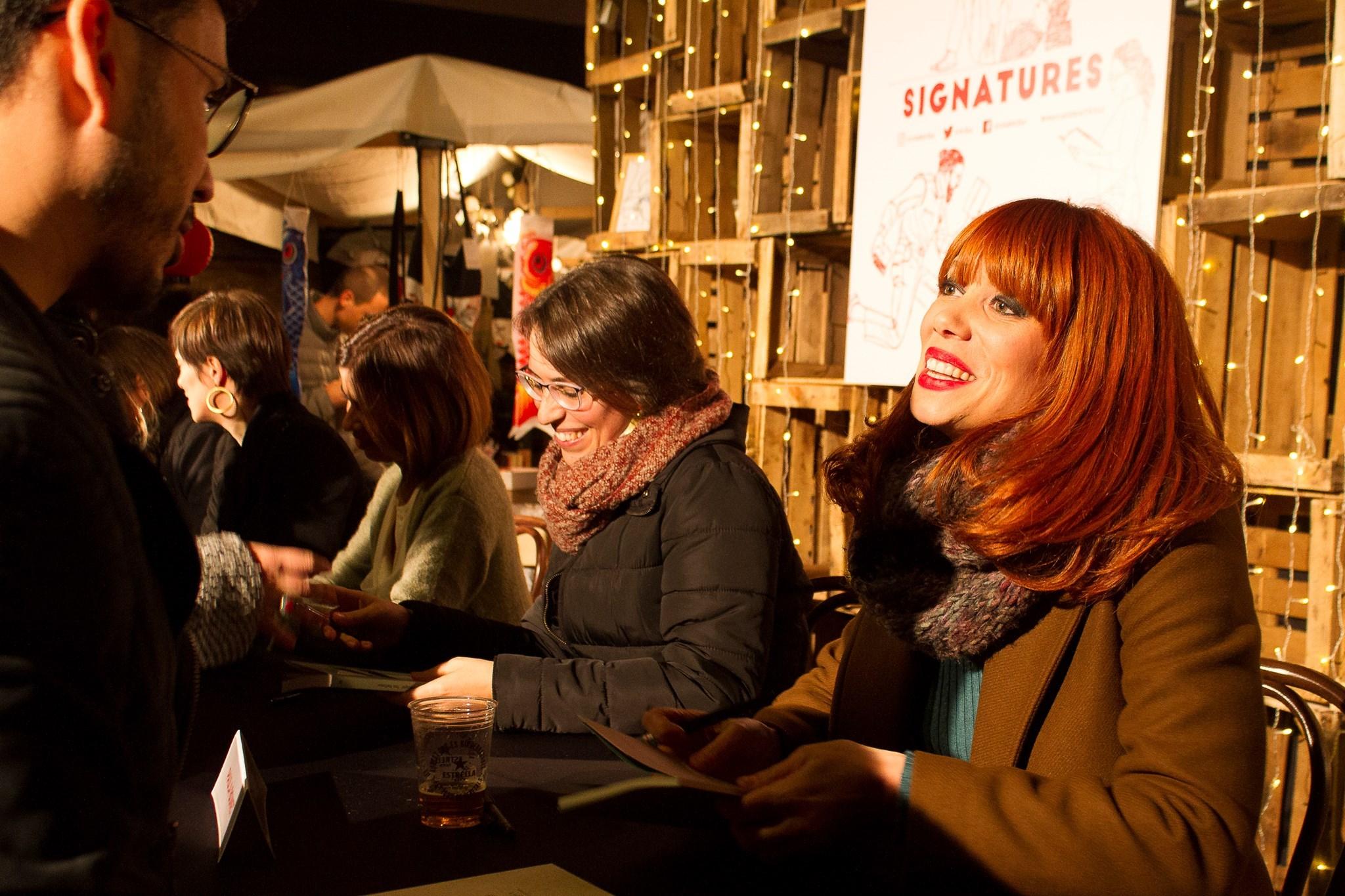 Paula Bonet a la Signatura de llibres