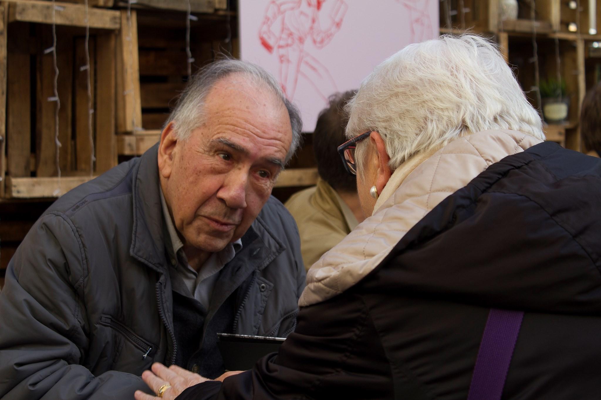 Joan Margarit a la Signatura de llibres