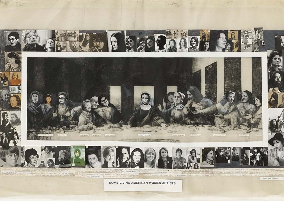 Some Living American Women Artists / Last Supper ·  Mary Beth Edelson