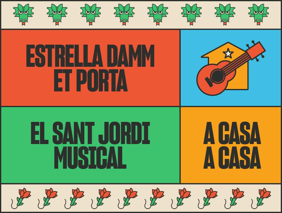 El Sant Jordi Musical d'Estrella Damm, online!