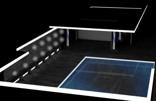 Big Bang Building Light! · Pavelló Mies van der Rohe