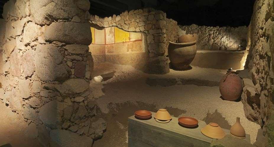Badalona, ciutat romana: Termes i Decumanus, Jardí Quint Licini i Casa dels Dofins