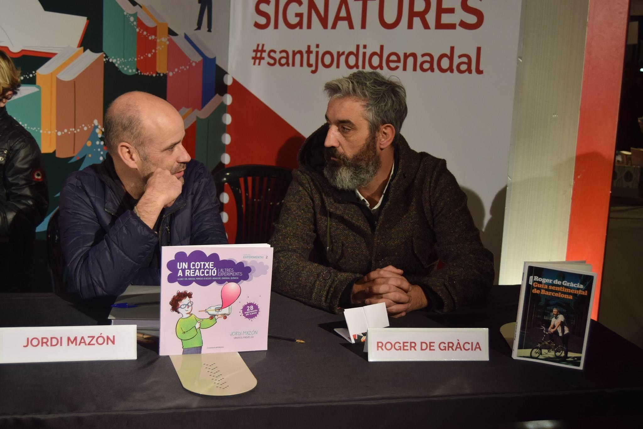 Signatura de llibres amb Jordi Mazón i Roger de Gràcia