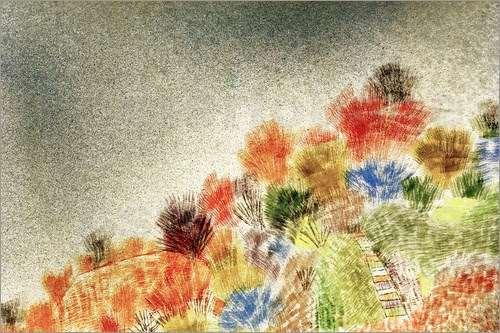 Arbustos en la primavera, de Paul Klee