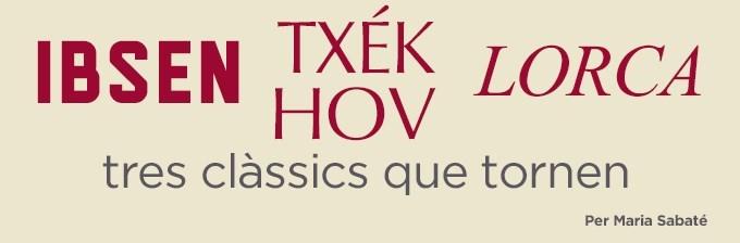 Ibsen, Txékhov i Lorca: tres clàssics que tornen