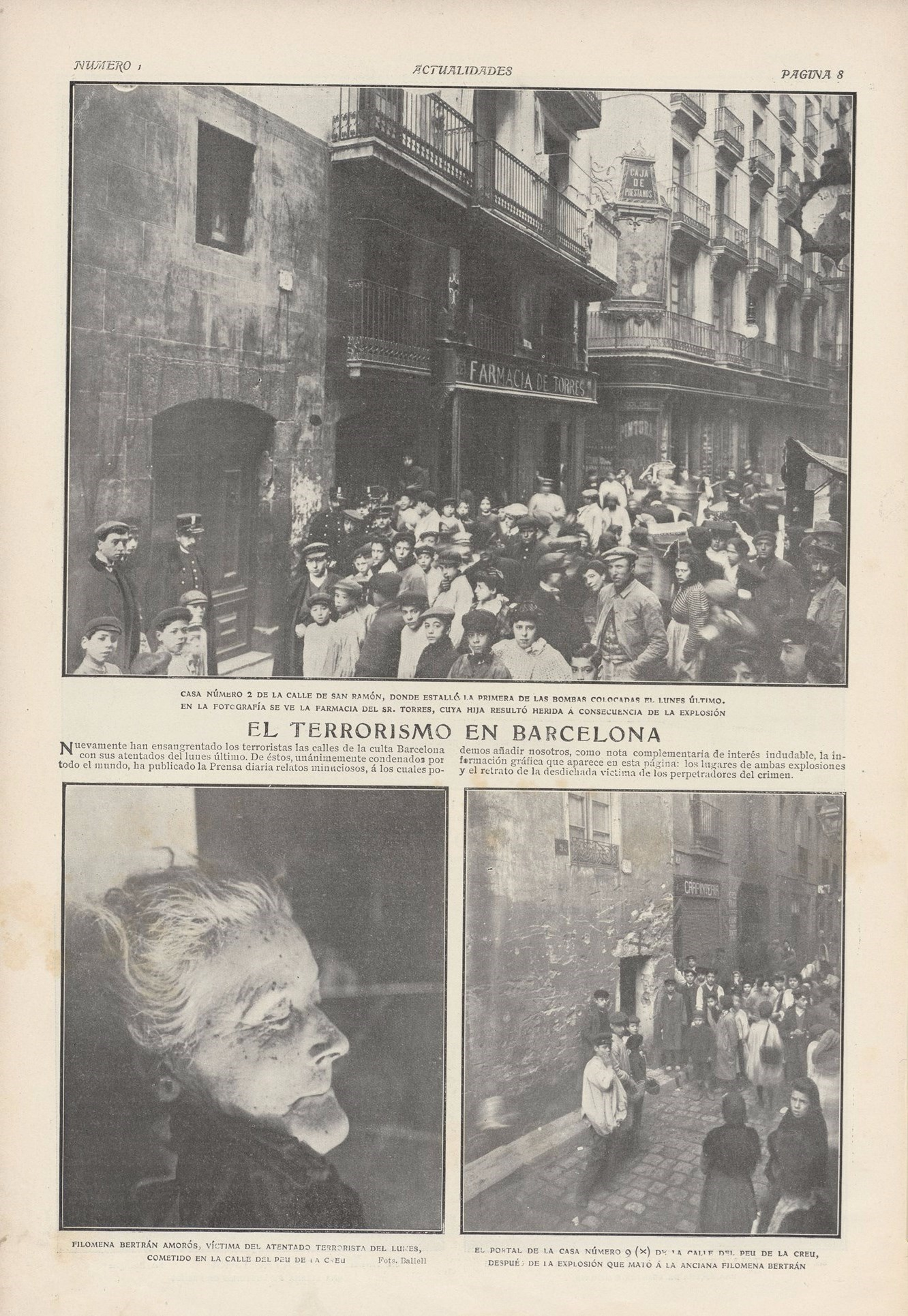 Terrorism in barcelona actualidades 20 february 1908 photos ballell bne